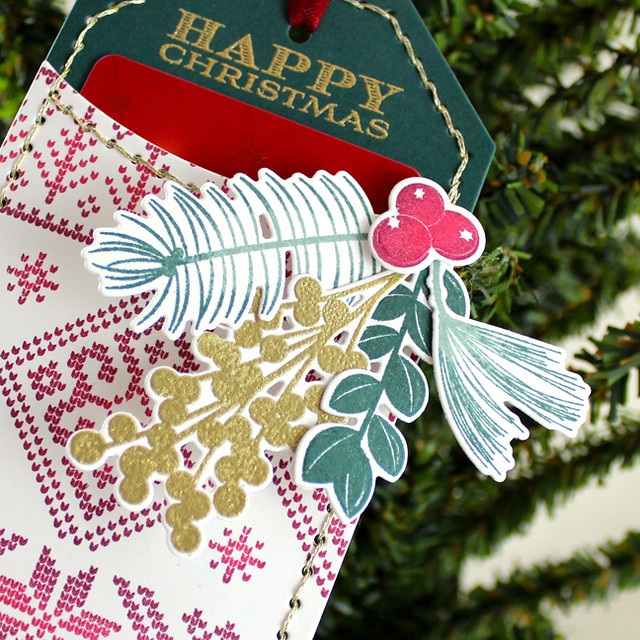 Christmas Pocket Tag Close Up