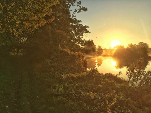 morning autumn england thames sunrise 100views oxfordshire abingdon iphone5s