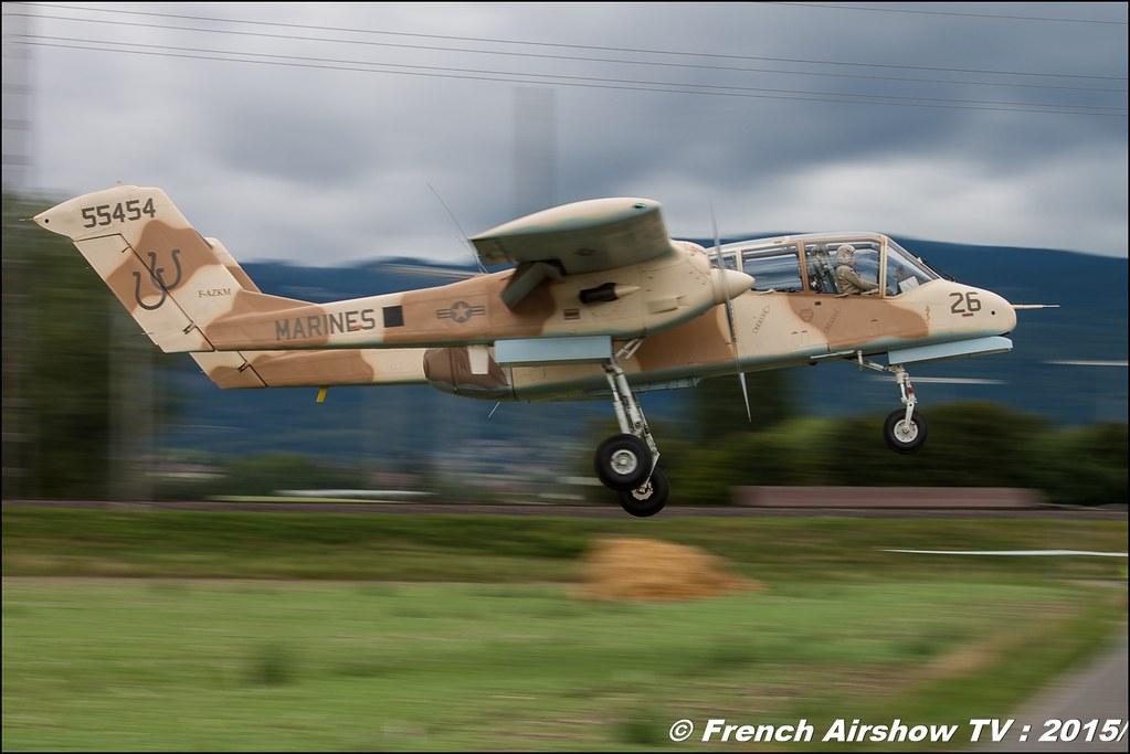 Bronco OV-10 F-AZKM Musée Européen de l'Aviation de Chasse Montélimar Fly-In CASG Prangins 2015 aerodrome de la Côte LSGP Canon Sigma France contemporary lens Meeting Aerien 2015