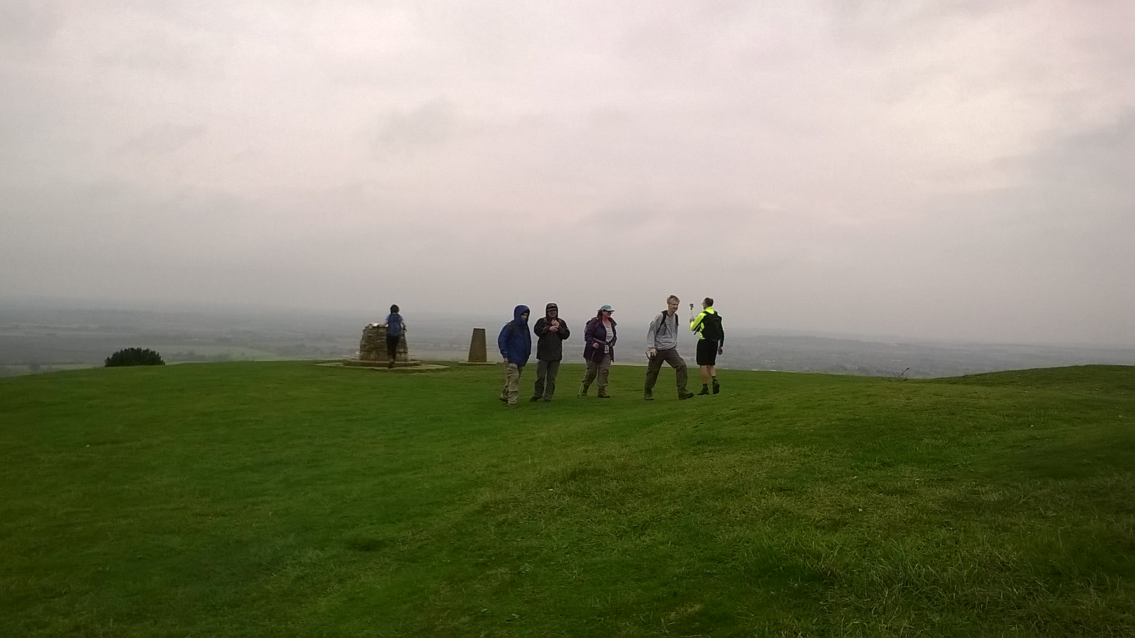 Ivenhoe Beacon Swc and other walkers at summit