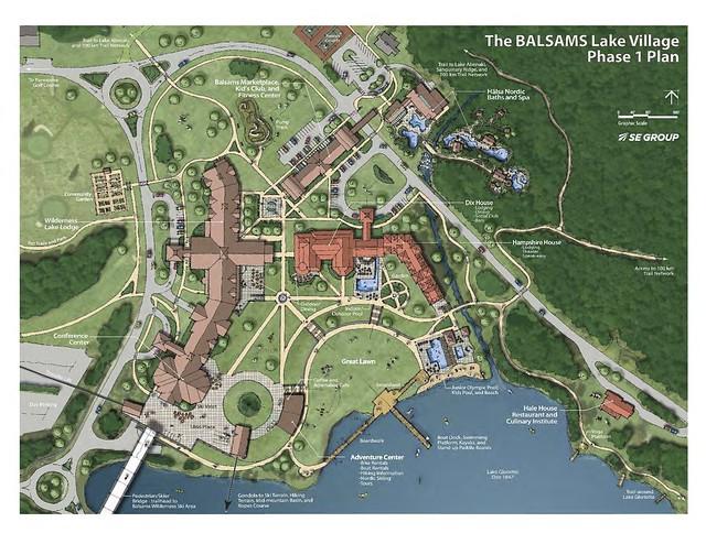 Balsams Lake Village rendering