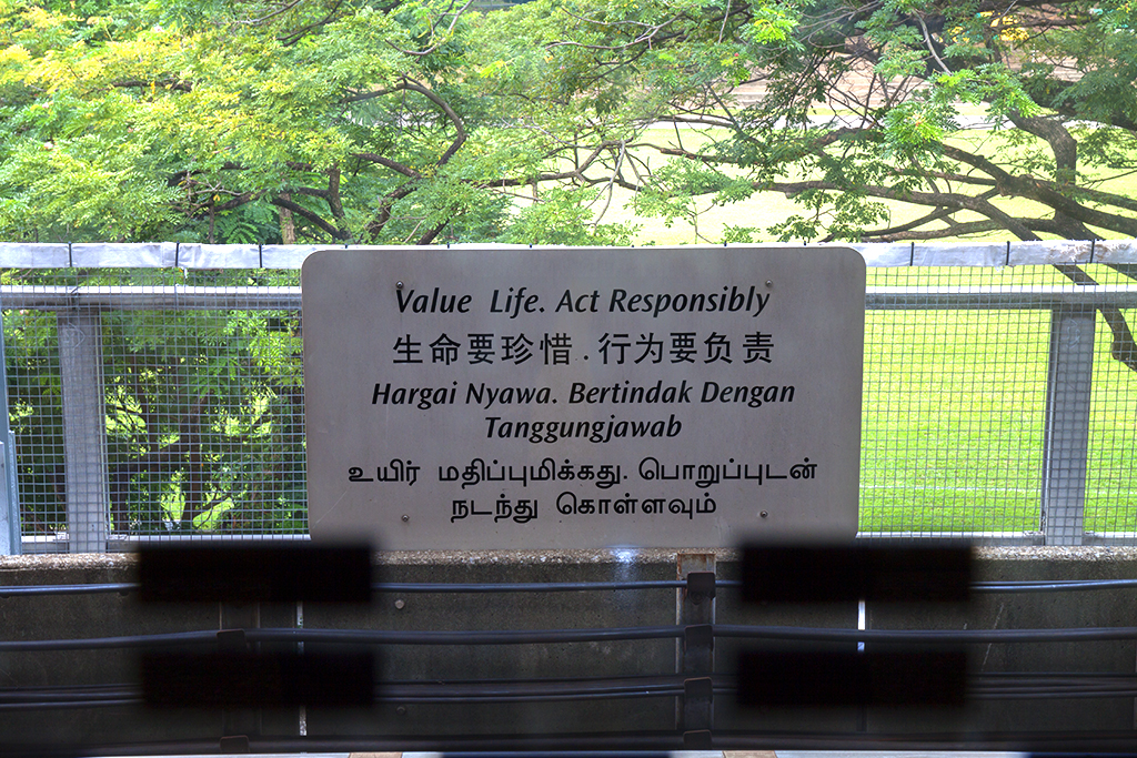 Value Life Act Responsibly--Singapore