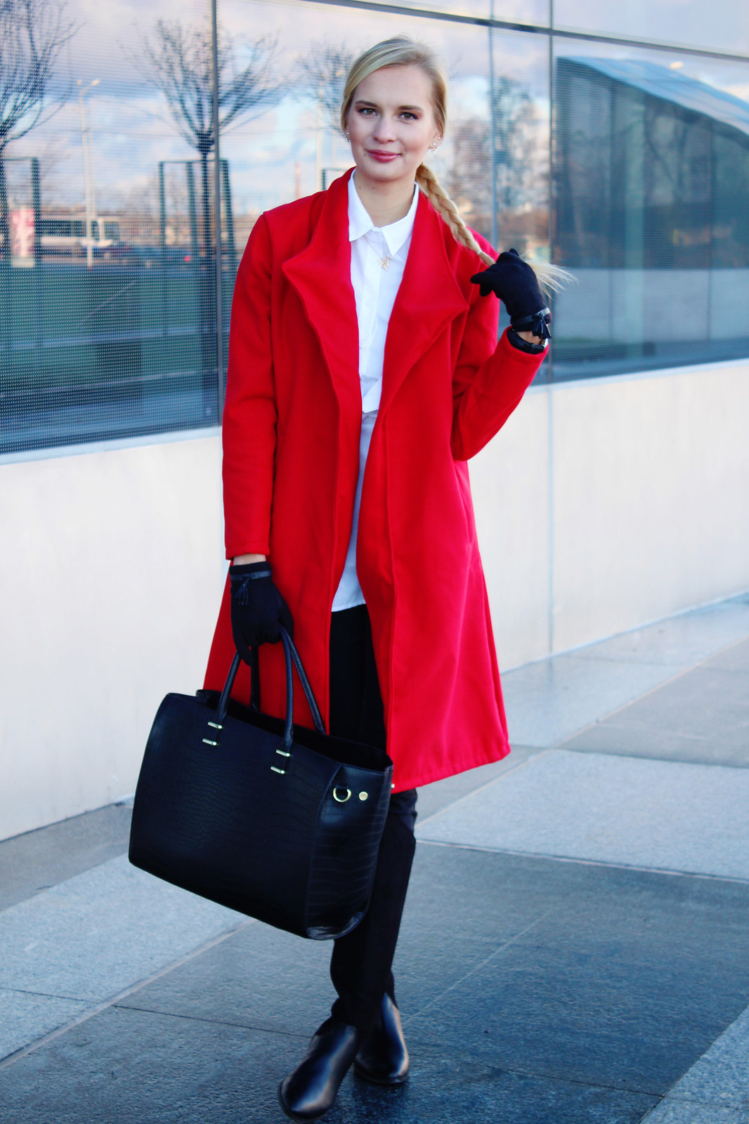 Styling a red coat