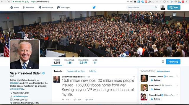 VP Twitter Joe Biden