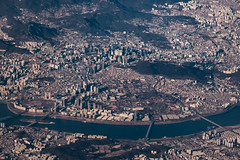 서울 Central Seoul from Asiana 106