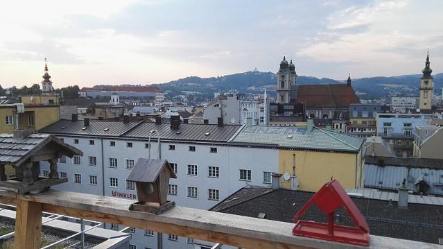 Vogelhäuschen, das Landhaus, der Schlossberg, der Alte Dom und die Stadtpfarrkirche