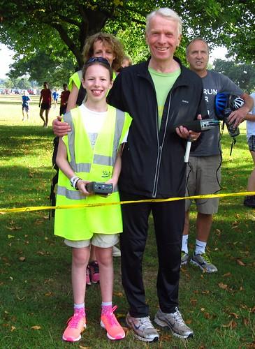 Timers Leonie Kennedy and Stephen Marfleet
