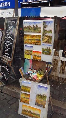Paris Montmartre artists Aug 15 13