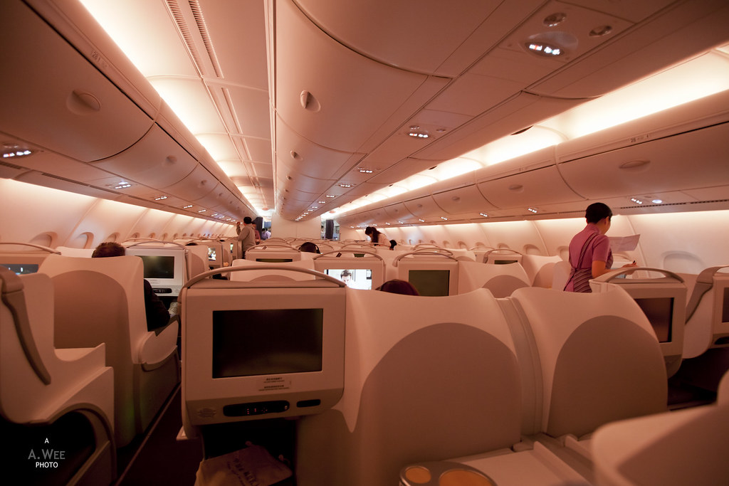 Inflight cabin prior to descent