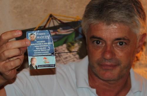 Franco Mancini depuratore santino elettorale promesse