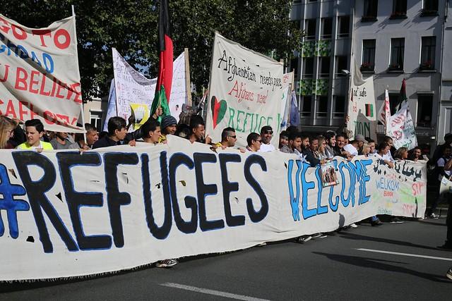 Bruxelles: manifestation de solidarité avec les réfugiés // PPICS