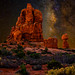 Leaning Rock, Arches National Park, Utah by concho cowboy