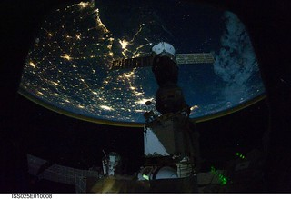 That's an ISS and the City Lights