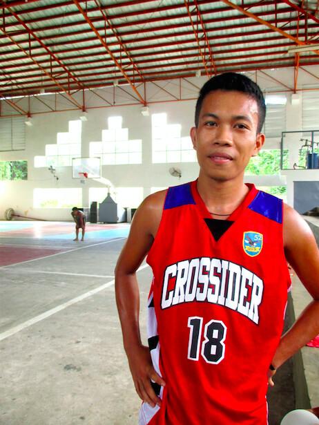 Santa Rita local basketball player Brian Lazarete