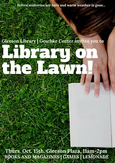 Library on the Lawn Poster