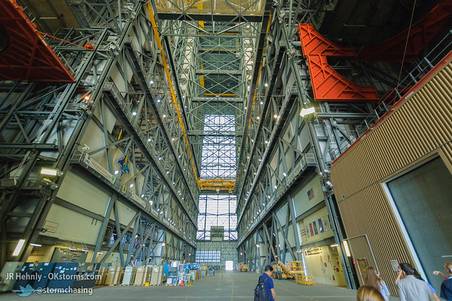 Thu, 11/01/2012 - 13:04 - Inside NASA's massive Vehicle Assembly Building (VAB), 526 feet (160.3 m) tall. This is where the Apollo Saturn V rockets were assembled, as well as the Space Shuttle. The upcoming Space Launch System (SLS) rockets will be assembled here. - November 01, 2012 1:04:59 PM - Titusville, Florida (28.5849,-80.6506)