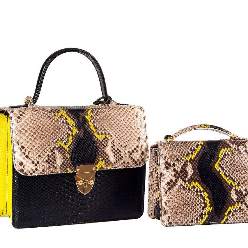 Can not resist Right ? #black #yellow #lime #tote #crossbo