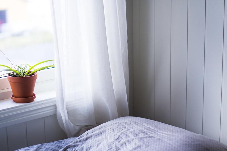 Hjørne i sengen