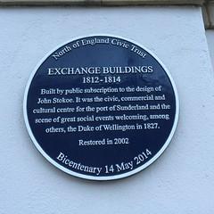 Photo of Arthur Wellesley and Exchange Buildings, Sunderland blue plaque