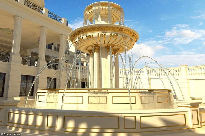 Дом с фонтаном в Майами