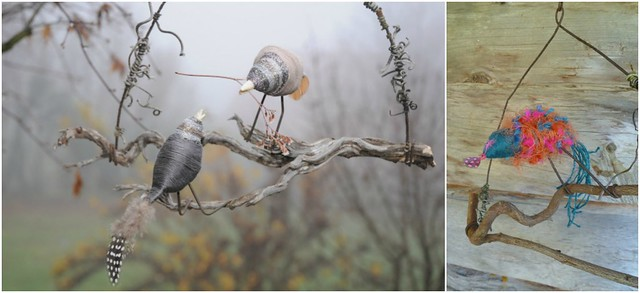 Pascale Realis, oiseaux en fils