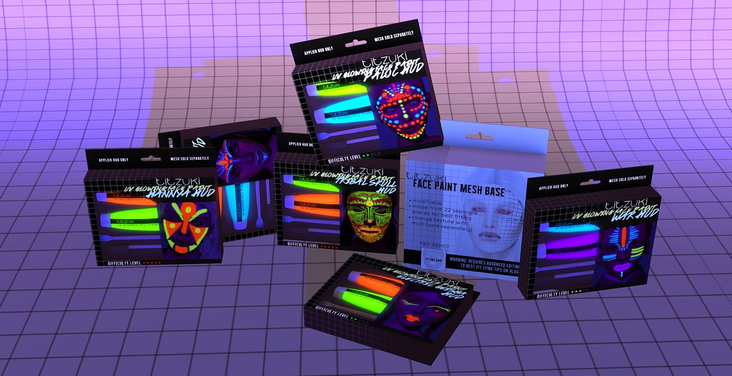OUT NOW titzuki : uv glowing face paints @ The Showroom