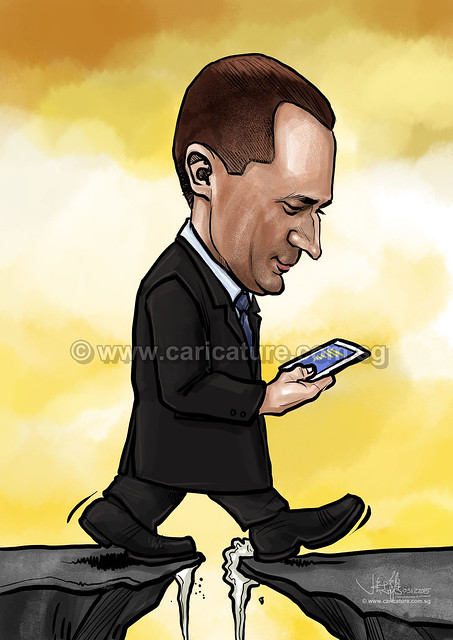Ifor Evan digital caricature for PropertyGuru (watermarked)