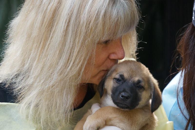 Jill and pup closeup