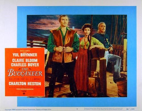 The Buccaneer - 1958 - lobbycard 1
