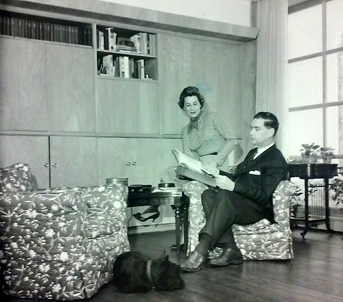 Eric and Evelyn Newman at home 1960s