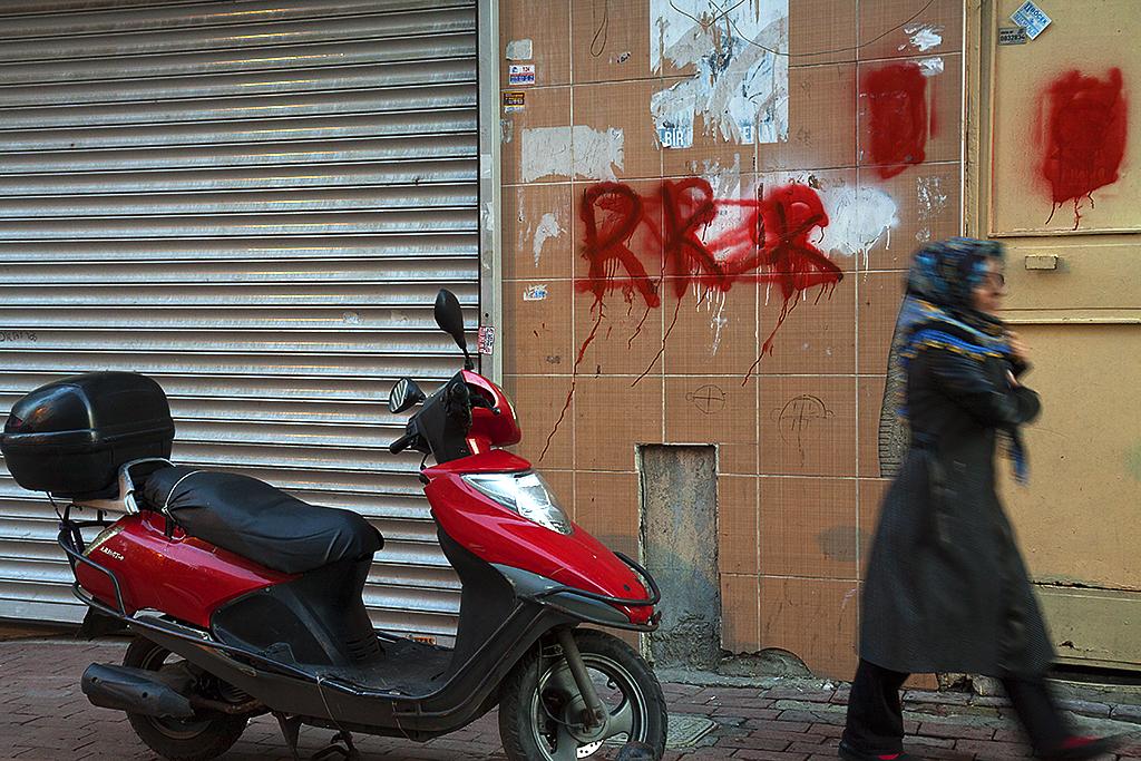 PKK graffitti--Istanbul