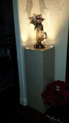 Golden Travertine Laminate Pedestal