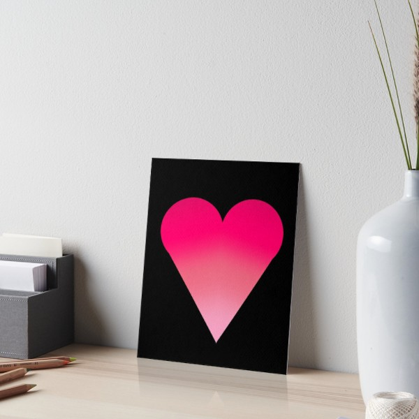 Art Board - Heart in Black