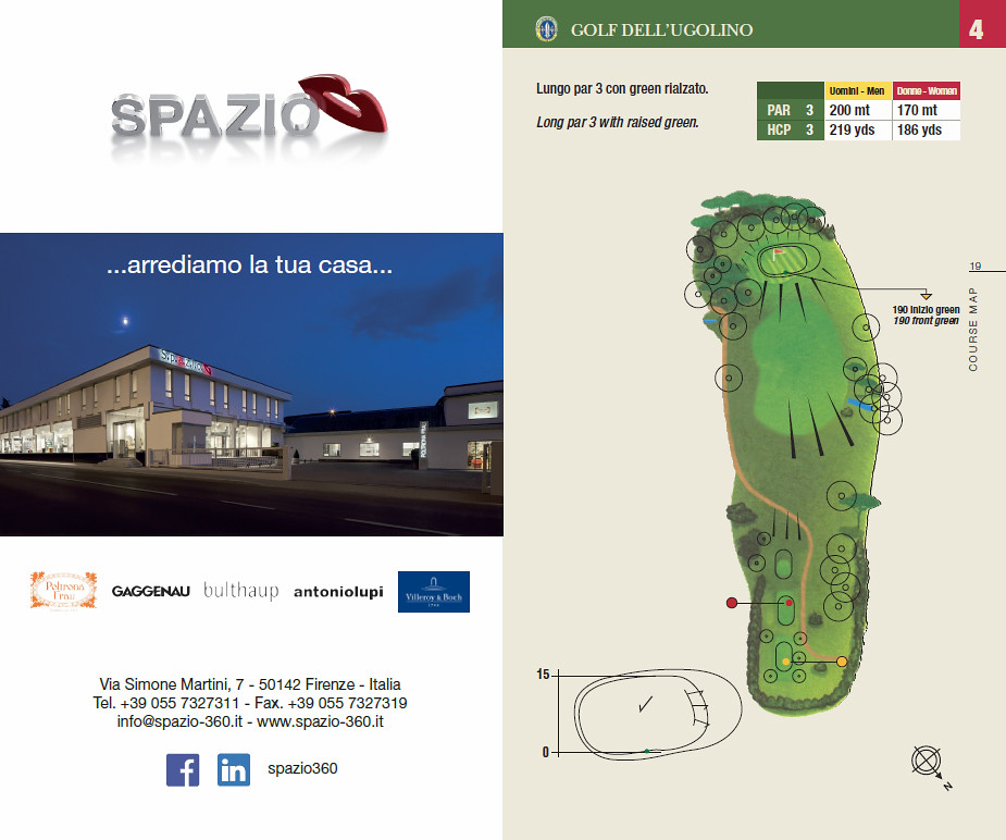 Spazio360 partner dell'ugolino golf club