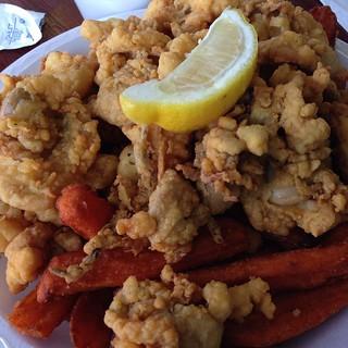 Fried clam dinner.  #eatinglikeanewenglander