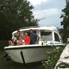La ciurma! #ritmodelfiume #barca #Aquitania