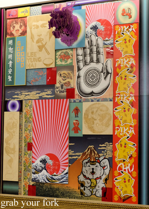 Japanese motif wall at Sokyo Ramen pop-up by Chase Kojima at The Star