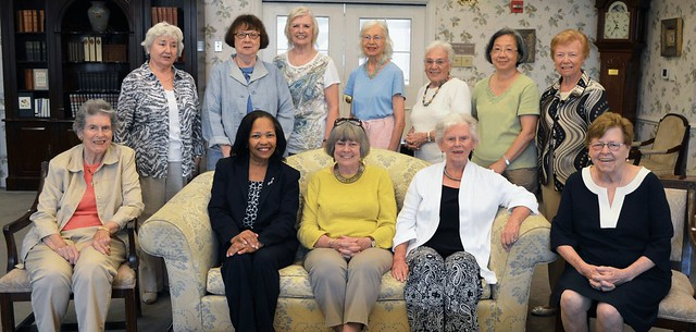 WCCPNJ 2015-2016 Board Members, taken at Windrows/Princeton, Sept 8,2015: Back row standing: right to left: Danuta Buzdygan-Stys, Beverly Kestenis, Carol Wisniewski, Mary Giordmaine, Doris Tazelaar, Helen Ju, Janet Reiche. Front row sitting: right to left: Nancy Lifland, Lynda Woods Cleary, Kathy Hutchins, Barbara Johnson, Beverly Crane Dubee. Not pictured: Marlene Gordon, Carol Stawski, Mary Laity, Gay Culin. Photo credit: Nora Ananos.
