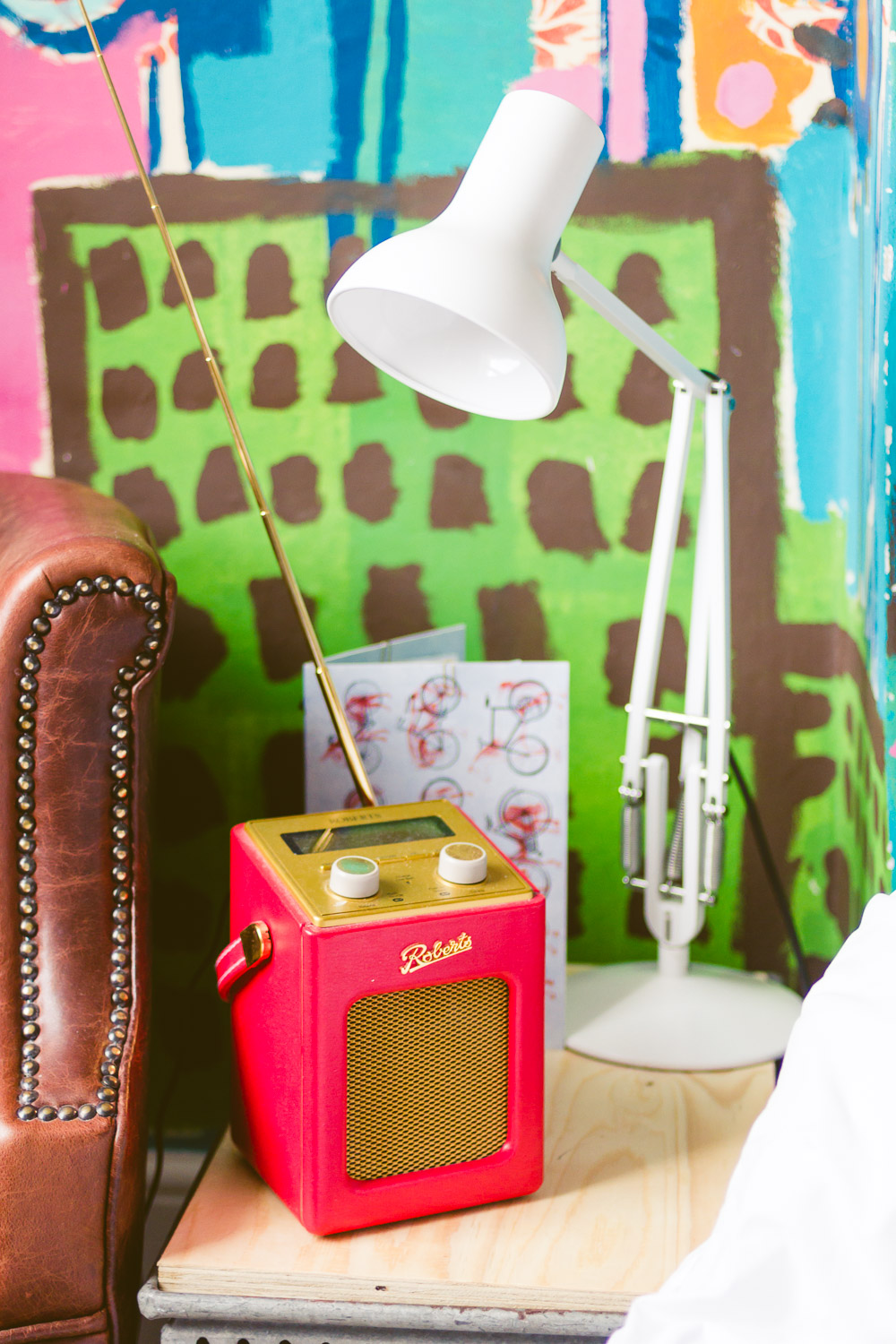 Artist residence hotel brighton colourful fun indie place to stay bedside table
