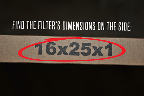 Find the dimensions of the filter on the side