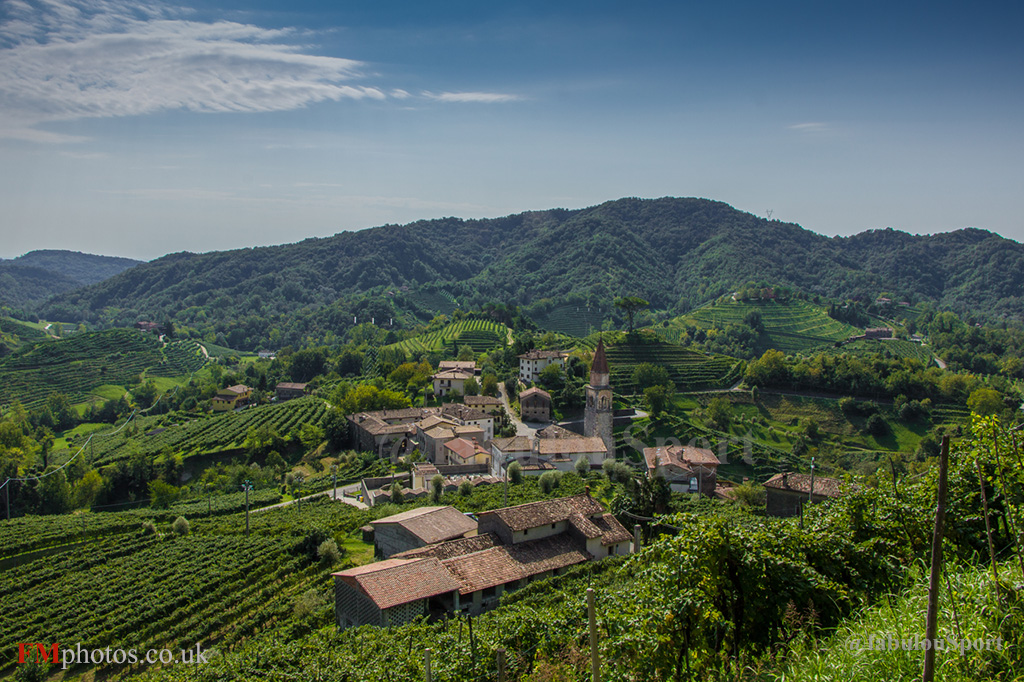 Landscape of Prosecco Wine Vineyards Rolle Treviso Veneto Italy