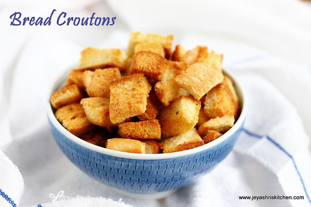 home made bread croutons