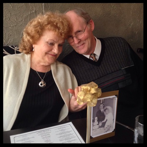 My parents at their 50th wedding anniversary dinner