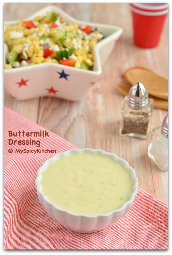 Crunchy Sweet Corn Salad with Buttermilk Dressing | MySpicyKitchen