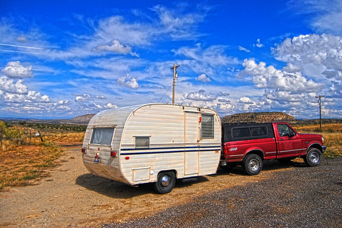 NW New Mexico and The 1958 Field and Stream Travel Trailer - s