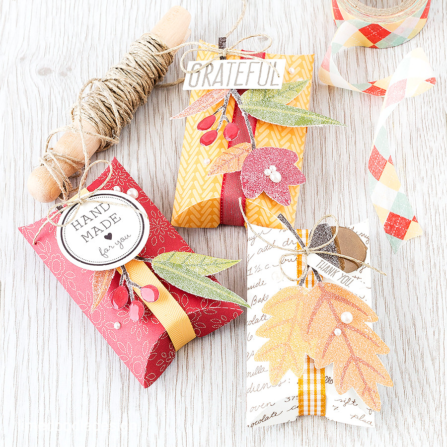Packaging for Autumn Gifts. Find out more by clicking on the following link: https://limedoodledesign.com/2015/10/autumn-gifts/