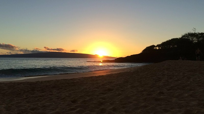 Sunset at Makena Beach, Maui.