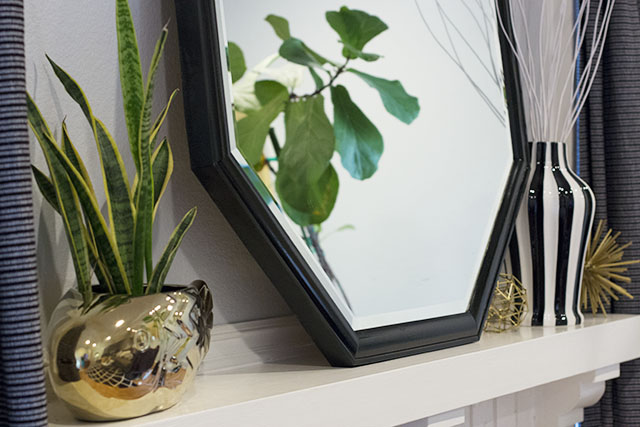 black lacquer mirror