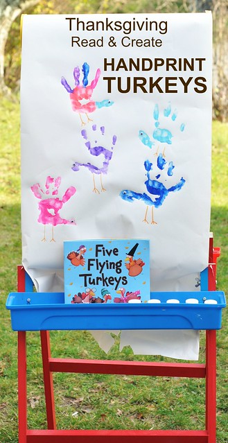 Thanksgiving Read & Create Handprint Turkeys