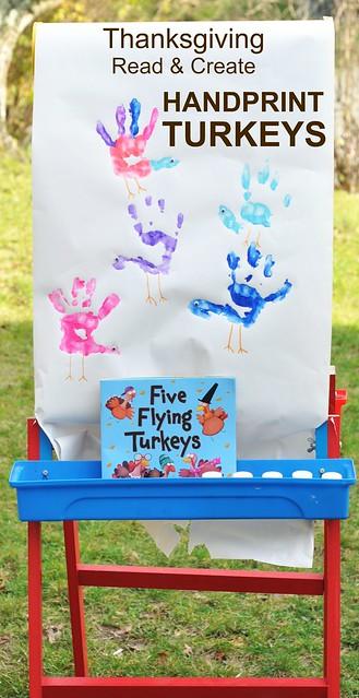 Thanksgiving Read & Create Handprint Turkeys
